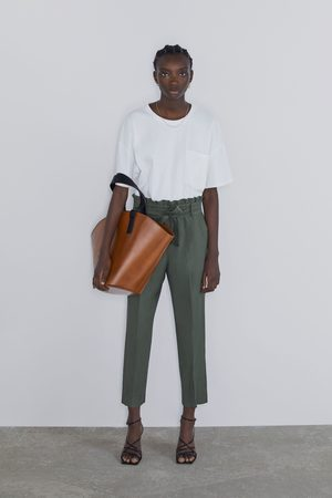 Zara Paperbag trousers with belt
