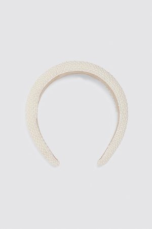 Zara Quilted pearly headband