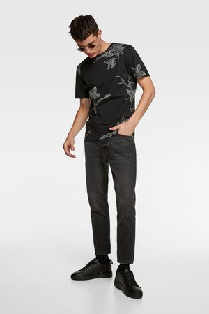 Zara Men T-shirts - Jacquard textured t-shirt