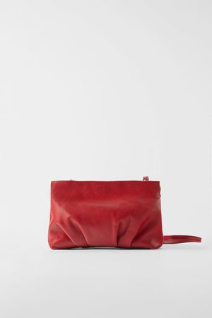 Zara Ruched leather crossbody bag