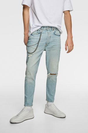 Zara Men Slim - Slim fit jeans with chains