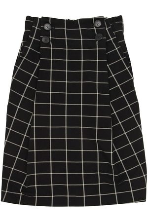 Unlabel Long Check Print Viscose Blend Skirt