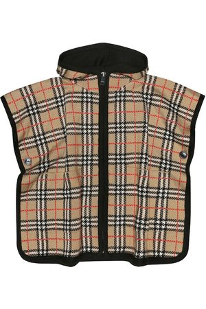 Burberry Check hooded wool cape