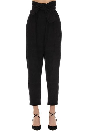 ZIMMERMANN High Waisted Suede Pants