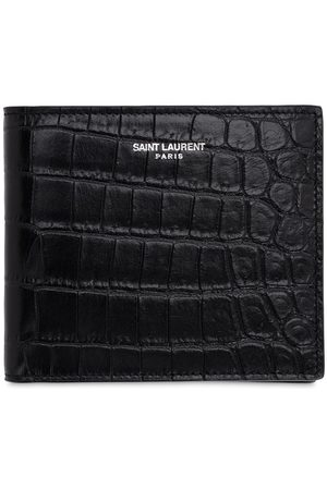 Saint Laurent Men Wallets - Eastwest Embossed Leather Wallet