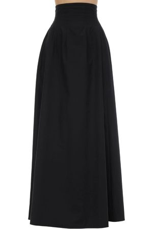 Khaite Cotton Poplin Maxi Skirt