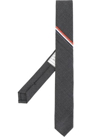 Thom Browne Classic Necktie With Seamed In Red, White And Blue Selvedge (26cm) In Super 120's Twill