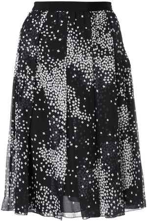 Giambattista Valli Geometric print pleated skirt