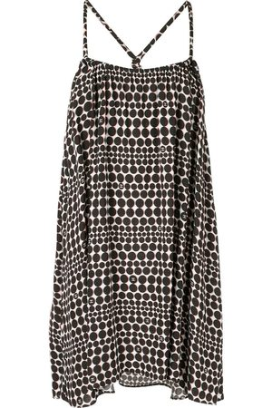 CHANEL Optic dotted print short dress