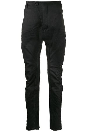 MASNADA Men Slim Pants - Ruched fitted trousers