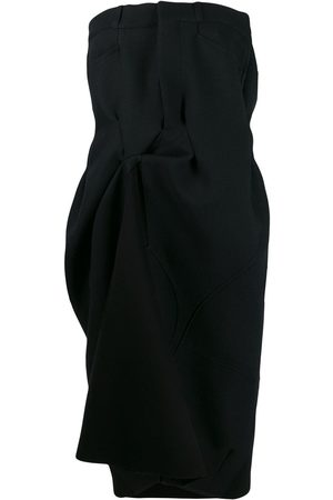 Maison Margiela Strapless draped midi dress