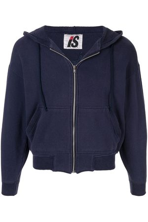 Issey Miyake 1980's Sports Line quilted logo zipped hoodie