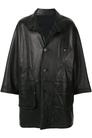 Issey Miyake 1980's Sport Line reversible leather coat