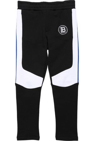 Balmain Boys Pants - Two Tone Cotton Sweatpants
