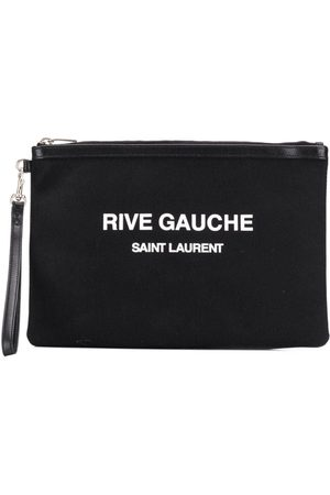 Saint Laurent Logo print pouch