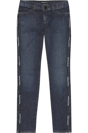 Emporio Armani Logo stretch-cotton jeans