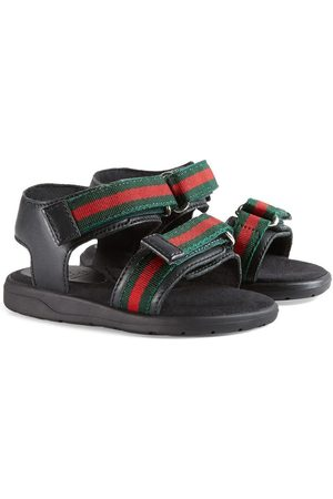 Gucci Baby Sandals - Toddler leather sandal with Web straps