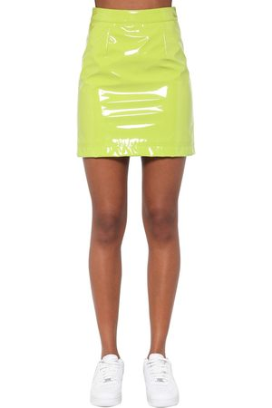 Kirin Women Mini Skirts - High Waist Vinyl Mini Skirt
