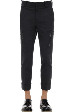 Neil Barrett Stretch Wool Gabardine Pants W/pockets