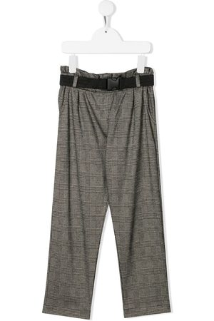Le pandorine Belted check trousers