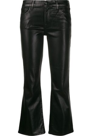 J Brand Metallic bell-bottom trousers