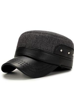 Newchic Men Hats - Mens Casual Flat Top Hats With Earflaps