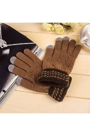 Newchic Men Knitted Gloves Touch Screen Mittens