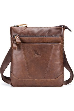 Newchic Men Laptop Bags - Genuine Leather Casual Business Shoulder Crossbody Bag