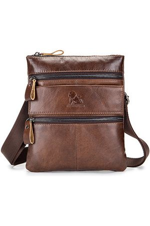 Newchic Genuine Leather Business Casual Shoulder Crossbody Bag
