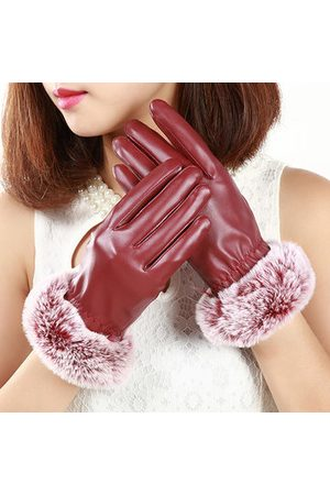 Newchic Women Soft Warm Full Fingers Touch Screen Gloves