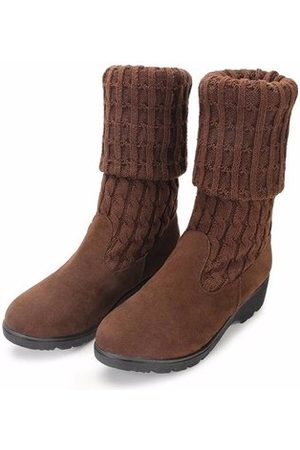 Newchic Wool Knitting Two Way Wearing Slip On Flat Over Knee High Boots