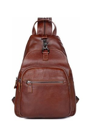 Newchic Unisex Genuine Leather Multi- Function Chest Bag