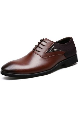 Newchic Men Formal Shoes - Men Cow Leather Large Size Business Formals Shoes