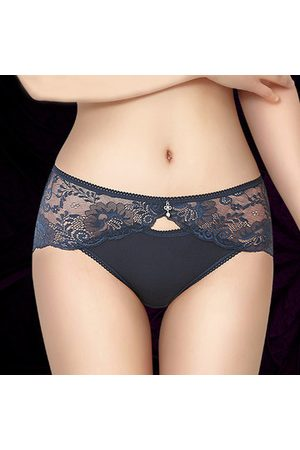Newchic Sexy Lace Hollow Crotch Cotton Soft Briefs