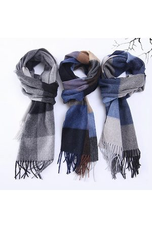 Newchic Classical Plaid Wool Scarf For Men