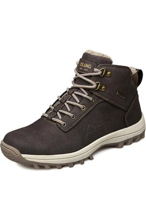 Newchic Men Outdoor Shoes - Men Cow Leather Outdoor Hiking Shoes