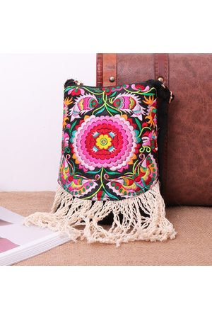 Newchic Women Shoulder Bags - Women National Style Hand embroidery Travel Shoulder Bag