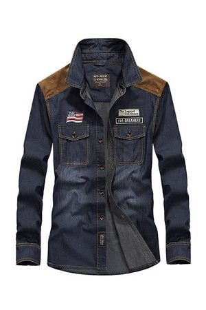 Newchic Men Denim - Casual Fashion Thin Denim Shirt