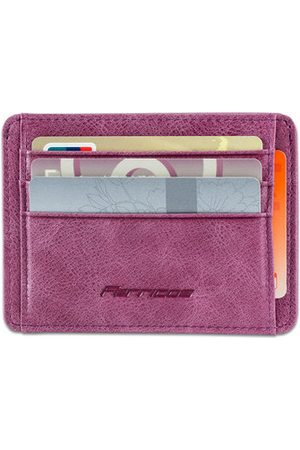 Newchic Wallets - RFID Unisex Genuine Leather Card Holder 5 Card Slot