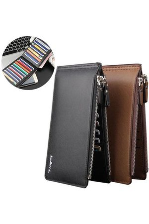 Newchic Men Wallets - Men PU Leather Credit Card Holder Billfold Wallet Purse Checkbook Clutch