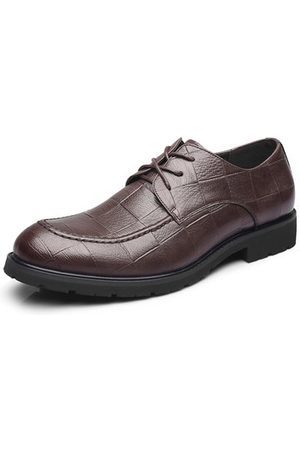 Newchic Men British Style Microfiber Leather Business Shoes
