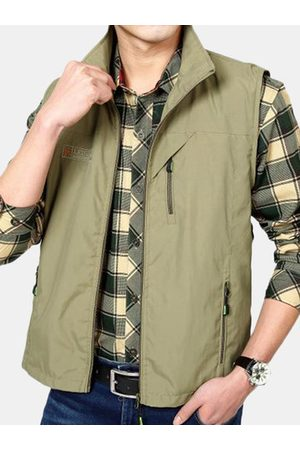 Newchic Casual Outdoor Detachable Back Multi Pockets Vest for Men