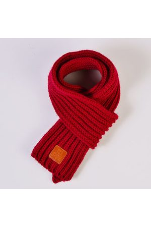 Newchic Kids Girls Boys Winter Cute Solid Color Knitted Scarves