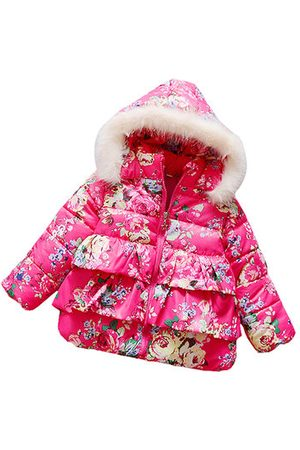 Newchic Winter Baby Girls Hooded Coat Outwear