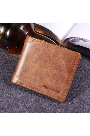 Newchic RFID Antimagnetic Genuine Leather Vintage Tri-fold Wallet