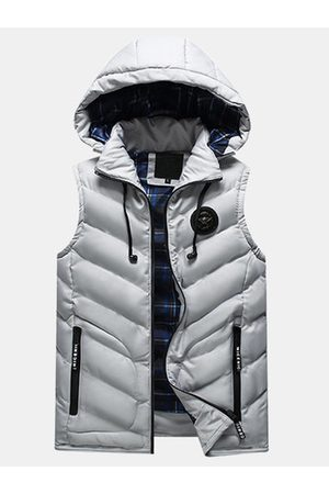 Newchic Mens Detachable Hooded Vests