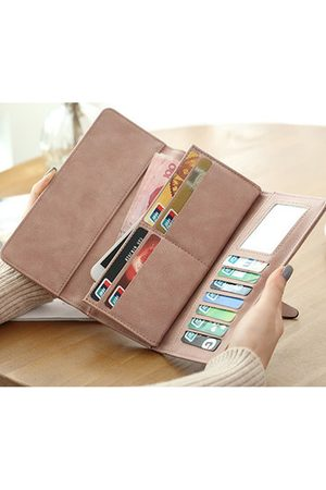 Newchic Women Elegant PU Leather Wallet Casual Purse Party Clutches Bag Card Holders