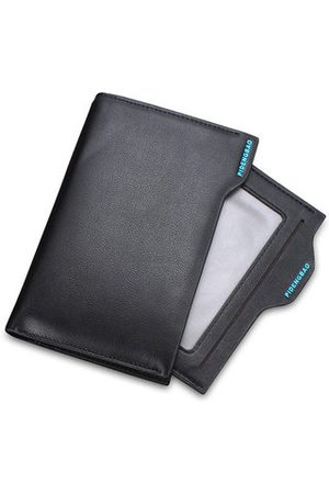 Newchic Men Multifunctional Cowhide PU Short Wallet