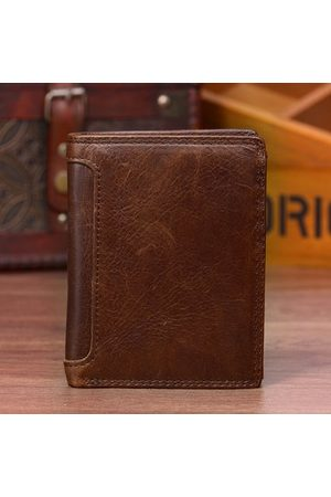 Newchic Genuine Leather 13 Card Slots Driver License Tri-fold Wallet