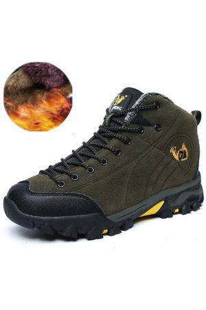 Newchic Men Suede Plush Lining Outdoor Hiking Shoes